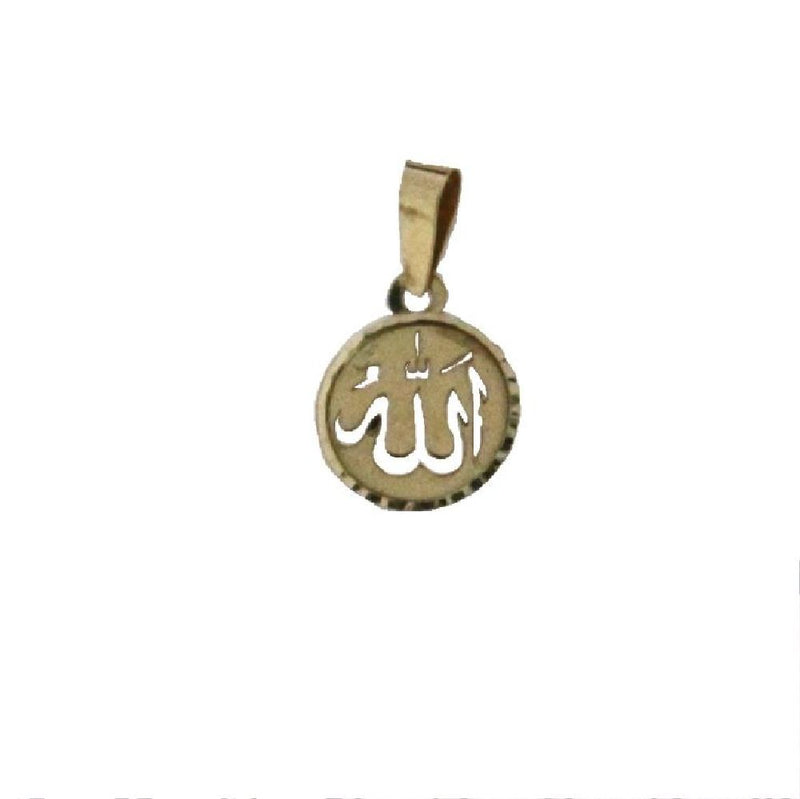18 kt yellow gold ALLAH arabic small  round  pendantAmalia J. & Boutique Charms