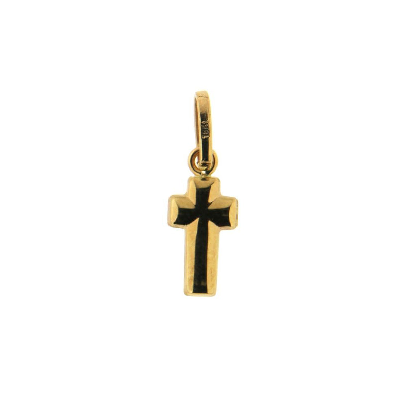 18K Yellow Gold  Tiny Cross L. 0.65  InchAmalia J. & Boutique Charms