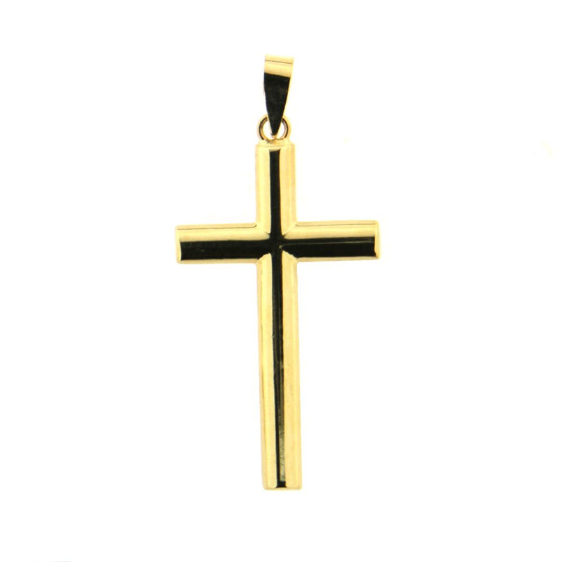 18K Yellow gold polished cross  33 mm x 14 mm   1.41 x 0.71 inchAmalia J. & Boutique Charms