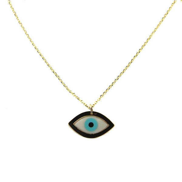 18K Yellow Gold Oval Hamsa cut out Medal 0.89 x 0.69 inch