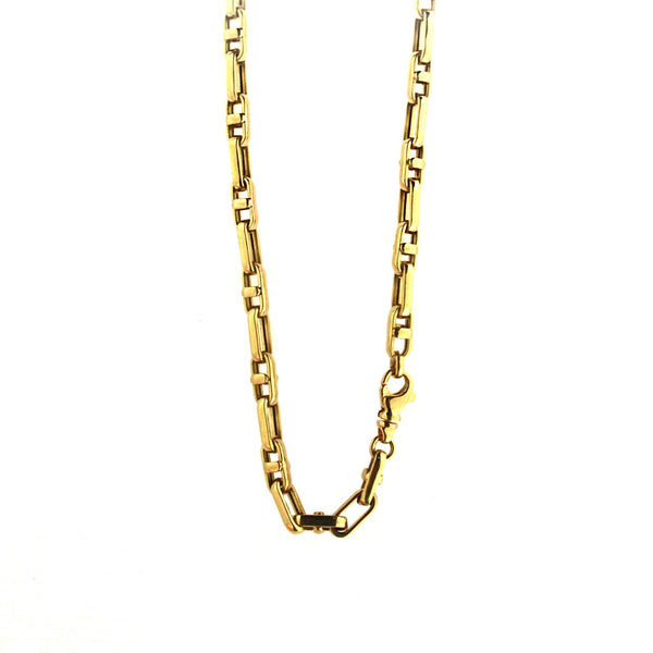 18K Solid Yellow gold Marine Link Men chain 21.3 grams 24 inchesAmalia J. & Boutique Lady Gold Jewelry