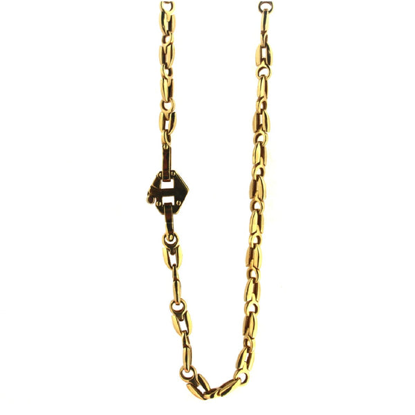 18K Solid Yellow Gold Men Chain 24 inches  36.65 gramsAmalia J. & Boutique Lady Gold Jewelry