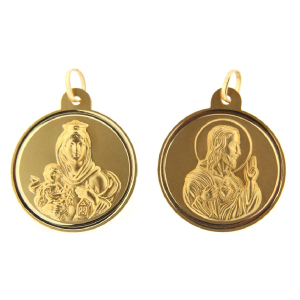 18K Yellow Gold 30mm Scapular Medal PendantAmalia J. & Boutique Charms