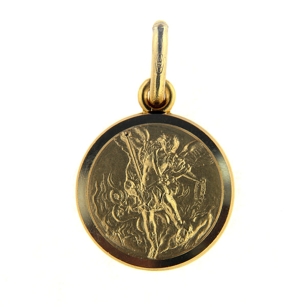 18K Yellow Gold Saint Michael the Archangel Medal 11,13 or 15 mm Patron of warriors, the sick and the sufferingAmalia J. & Boutique Charms