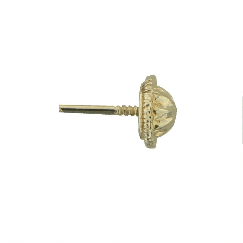 18kt Yellow Gold Screw back nut with platic mechanism insideAmalia J. & Boutique Backs & Repairs