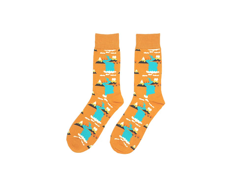 FLOWERS AT NIGHT SOCKS