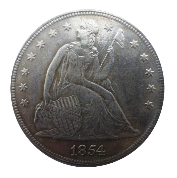 1854 SEATED LIBERTY DOLLAR - COINSPESO