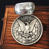 Silver Morgan Dollar Ring with a FREE Morgan Dollar Coin and a BOX - COINSPESO