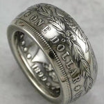 1894 Silver Morgan Dollar Coin Ring Customized In All Years Size 4 to 16 - COINSPESO