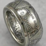 1884 Silver Morgan Dollar Coin Ring Customized In All Years Size 4 to 16 - COINSPESO