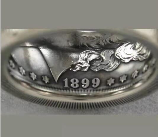 1882 Silver Morgan Dollar Coin Ring Customized In All Years Size 4 to 16 - COINSPESO