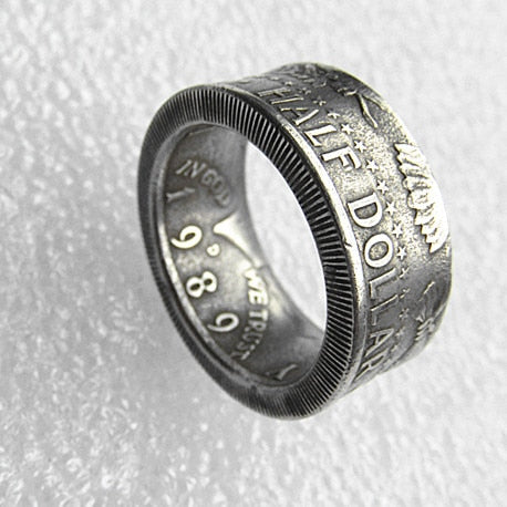 US Kennedy '1989' Half Dollar 'eagle' Ring Handmade In Sizes 5-15 - COINSPESO