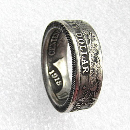 US 1918 Half Dollar Ring In Sizes 5-15 - COINSPESO