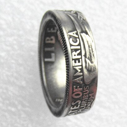 US Washington Quarter Dollar Ring Handmade In Sizes 5-15 - COINSPESO