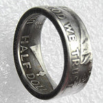 US Franklin Half Dollar Ring 1957 Handmade In Sizes 5-15 - COINSPESO