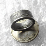 US 1935 Old Half Dollar Ring In Sizes 5-15 - COINSPESO