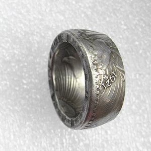 1921 Silver Plated Coin Ring Handcrafted US In Sizes 7-14 - COINSPESO