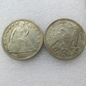 1873 SEATED LIBERTY SILVER DOLLARS - COINSPESO