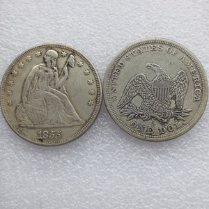 1855 SEATED LIBERTY SILVER DOLLARS - COINSPESO