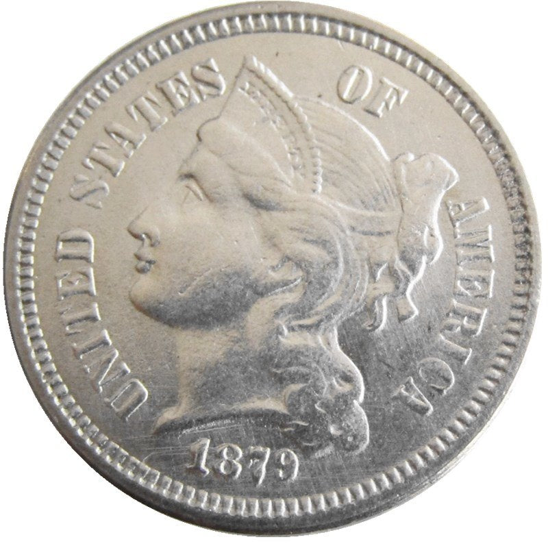 1879 THREE CENT NICKEL - COINSPESO