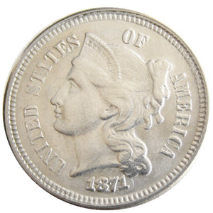 1871 THREE CENT NICKEL - COINSPESO
