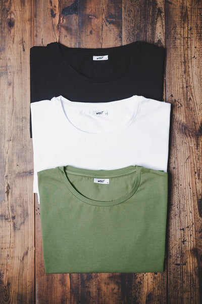 WANT Essentials Triple Pack (White, Black & Khaki)