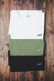 WANT Embroidered Triple Pack (White, Black & Khaki)