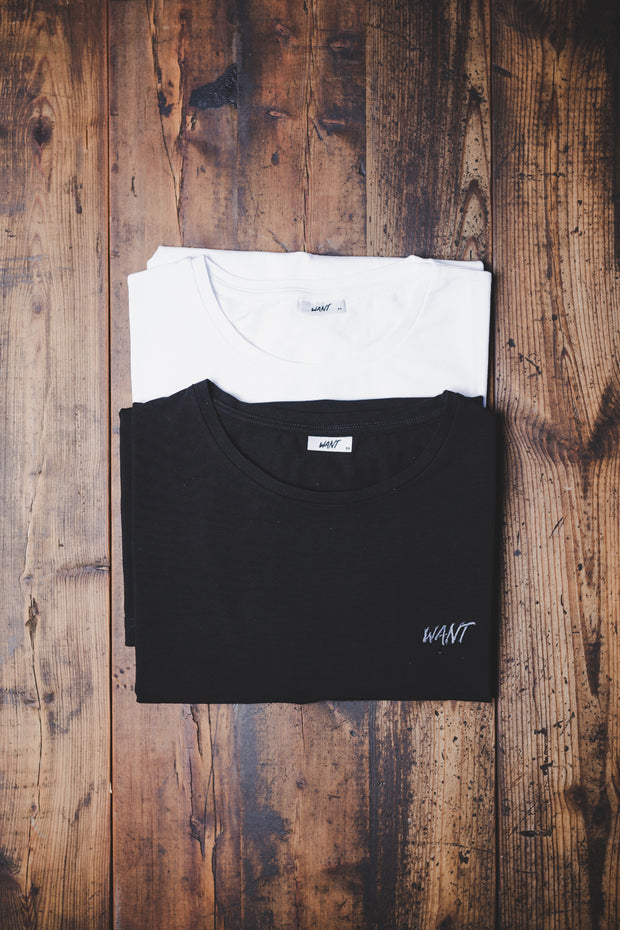 WANT Embroidered Double Pack (Black & White)