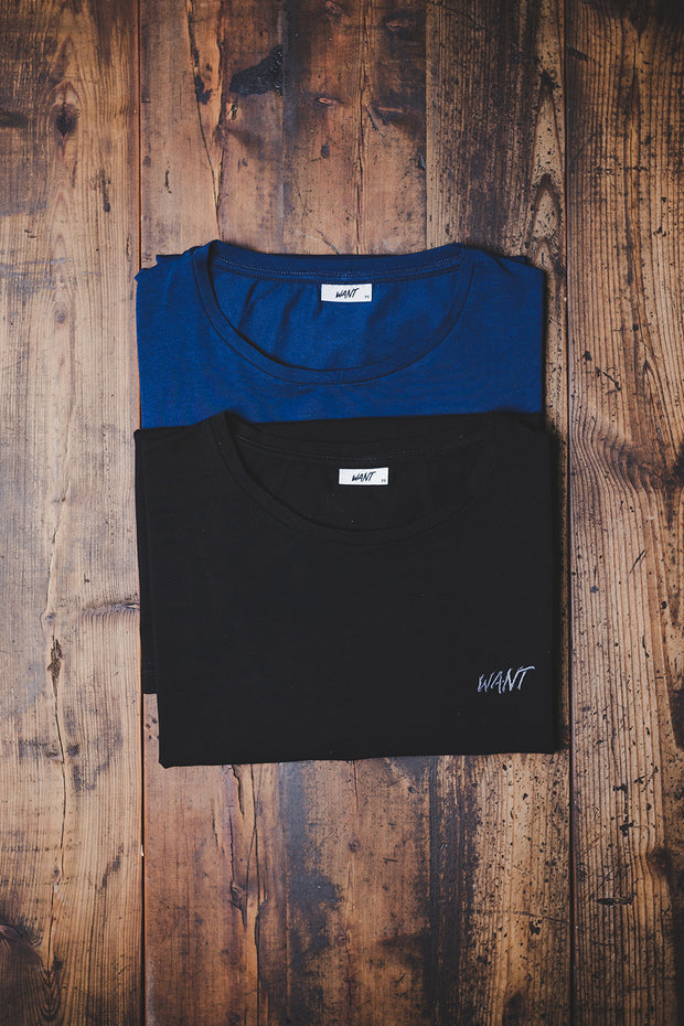 WANT Embroidered Double Pack (Black & Blue)
