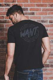 WANT Screen Printed Double Pack (Black & Khaki)