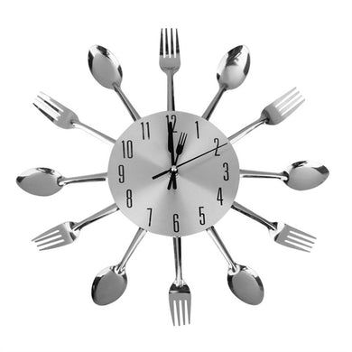 Spoon Fork Wall Clock - Kitchen Decorative