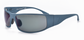 Fugitive TAC Motorcycle Aluminum Sunglass- Cerakote Blue Titanium frame with Polarized Gray lenses