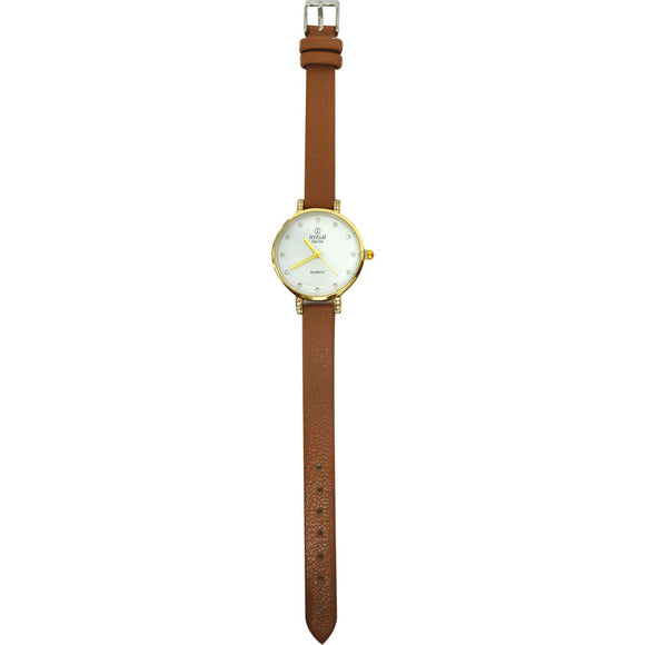 Initial ladies watches leather straps Rose Gold Face