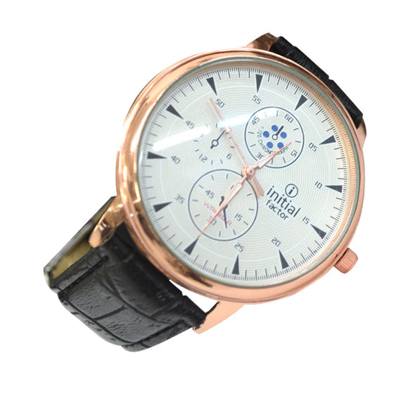 Initials Gents & Ladies Morden Design Rose Gold Face Watch