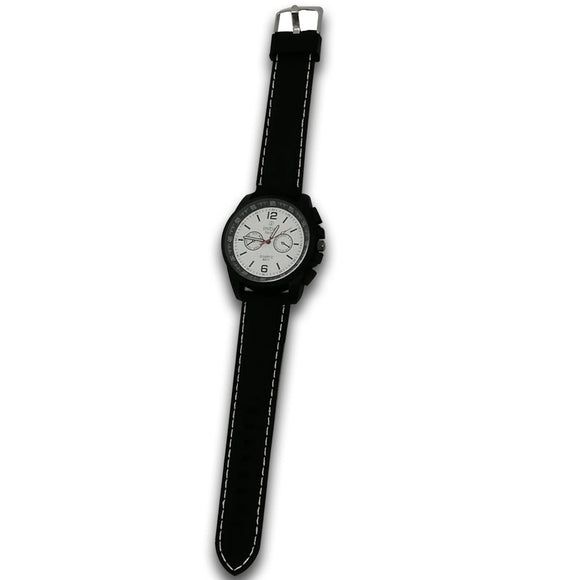 Initial Gents Morden Classic Design Resin Strap Analog Watch
