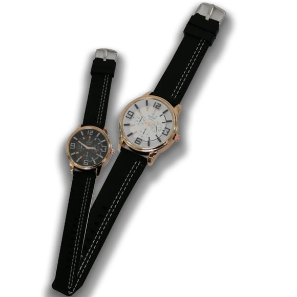 Initial Gents Morden Design Resin Strap Analog Watch