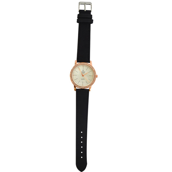 Initial ladies watches Rose Gold Diamonte Face