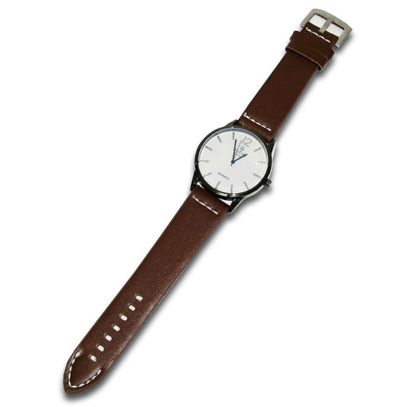 Initials Gents 5cm Morden Design Face Leather watch