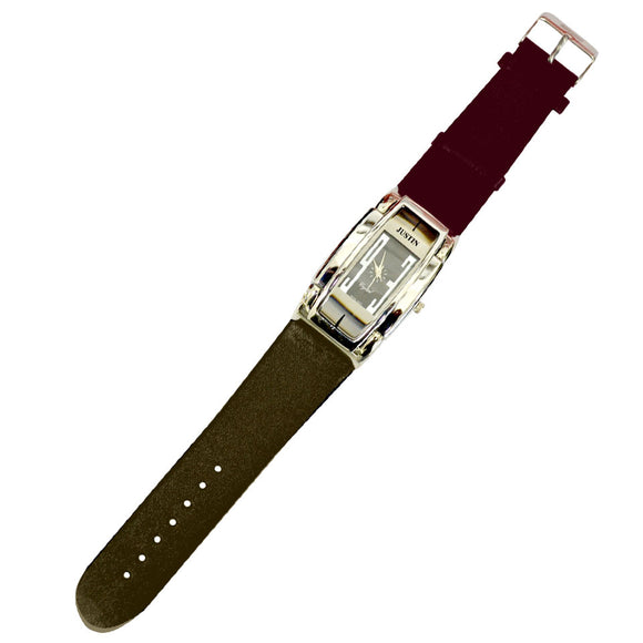 JUSTIN Gents moden design Leather Watch