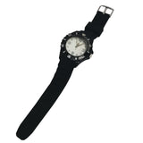 Gents 4cm Modern Design Resin Strap mono black in color