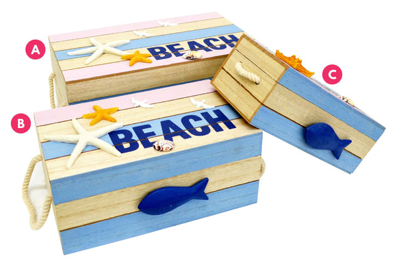 Beach Box Set Of 3