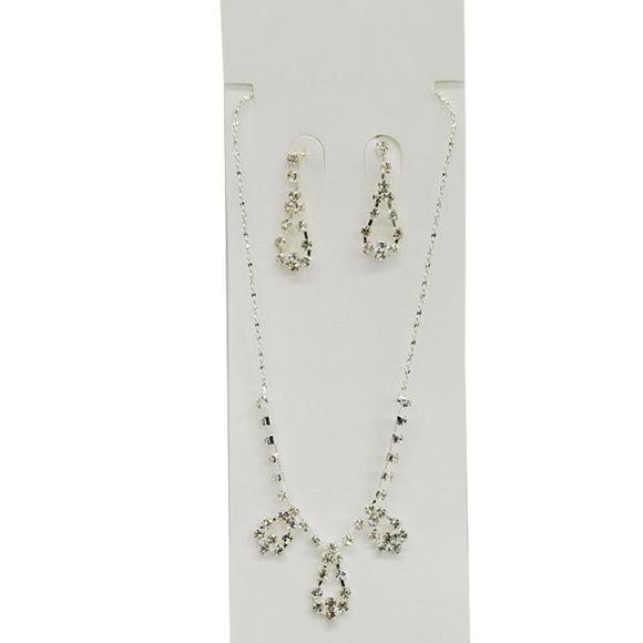 Diamante Necklace and Earrings
