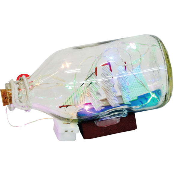 Light Up Glass Ship In Bottle