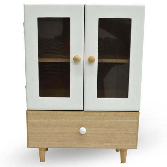 Mini Wooden Cupboard 2 Door & Drawer Vanity