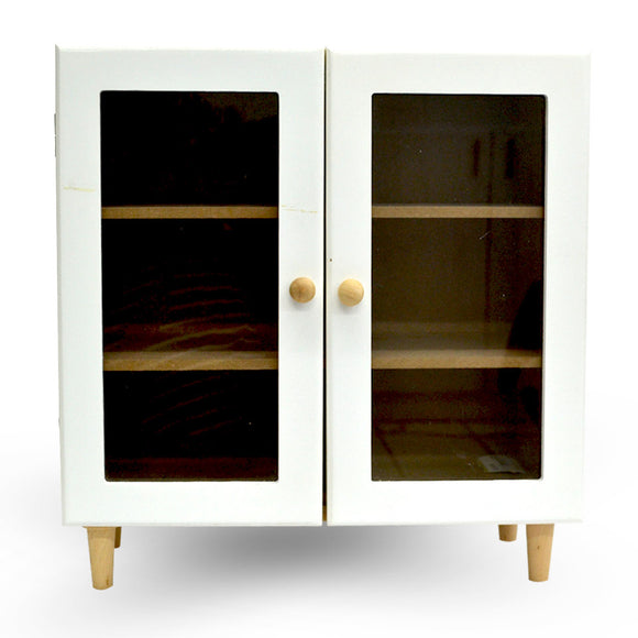 Mini Wooden Cupboard 2 Door Vanity