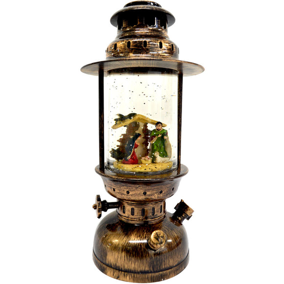 Nativity Scene - Round Christmas Light Up Lantern