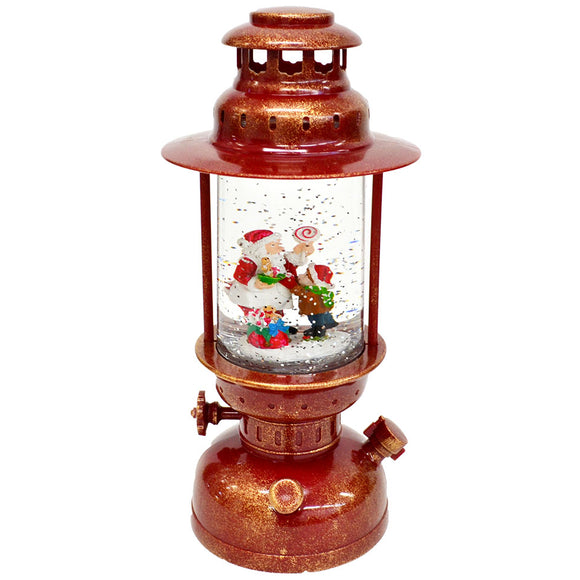Red - Round Christmas Light Up Lantern