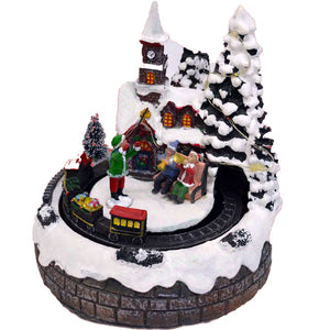 Christmas Musical Light Up House With Train