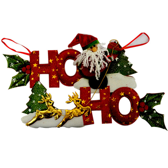 Christmas Hanging Decor With Santa & Reindeer