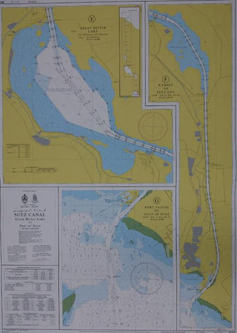 Egyptian Navy Hydrographic Department Suez Canal Charts